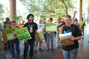 Healthcare rally at Senator John McCain's office in Tucson.