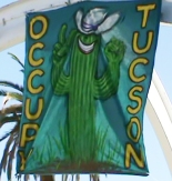 Occupy Tucson banner (Image credit: Pamela Powers)