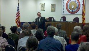 John Nichols at the IBEW Hall in Tucson.