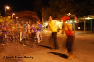 Dancers perform at the Ronstadt Transit Center in 2009.