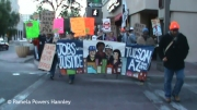 Jobs with Justice marching with Occupy Tucson in support of postal workers.