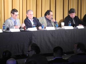 City Councilman Steve Kozachik, Mayor Jonathan Rothschild, Congressman Raul Grijalva, and State Legislator Bill Bradley were among the elected officials who answered gun control questions at the public forum.