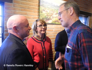 Kelly and Giffords talk with Secretary of State candidate Terry Goddard.