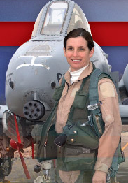 Martha McSally and her Warthog