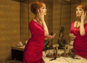 Mad Men Joan's bathroom perfume scene