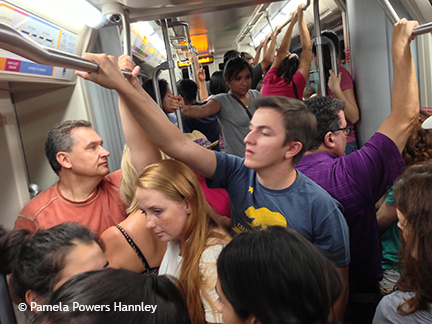 The streetcar was packed with Tucsonans throughout the weekend.