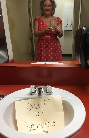 broken sink