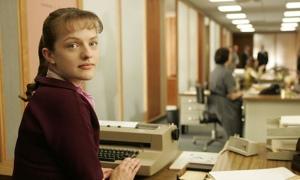 Peggy Olson in the secretarial pool.