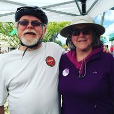 Congressman Ron Barber and Pamela Powers Hannley at Cyclovia