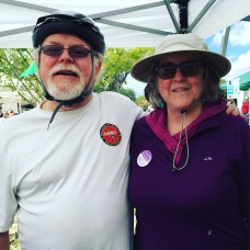 Congressman Ron Barber and Pamela Powers Hannley at Cyclovia