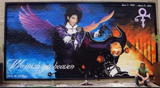 Prince mural in Tucson