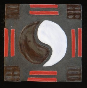 Yin and Yang mosaic