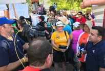 Rep. Sally Ann Gonzales and I were interviewed by NBC at the Phoenix rally.
