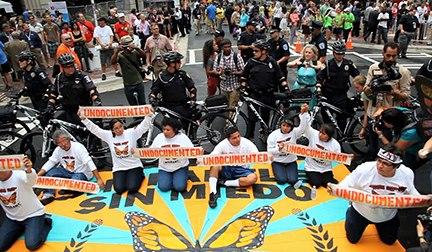 Undocubus protest at DNC 2012