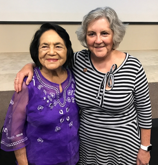 Dolores Huerta and Rep. Pamela Powers Hannley