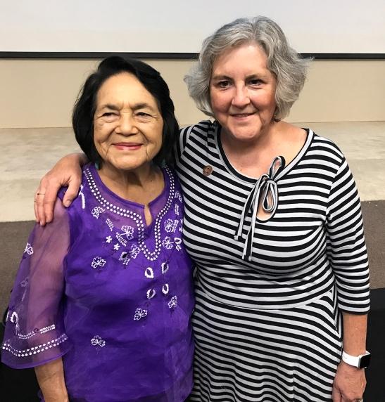 Dolores Huerta and Rep. Pamela Powers Hannley