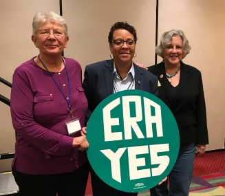 It was truly a honor to meet Nevada State Senator Patricia Spearman (center) in October and to confer with her regarding our efforts to ratify the Equal Rights Amendment (ERA) in Arizona. Spearman led the successful Nevada efforts to ratify the ERA in 2017. Here we are with activist and NOW leader Dainne Post after the ERA workshop at the We the People Conference in Phoenix. There are a lot of Arizona women who are ready to make history in 2018. Watch my blog here and my Facebook page here for ERA updates.