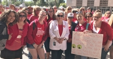 Rep. Pamela Powers Hannley with Red For Ed